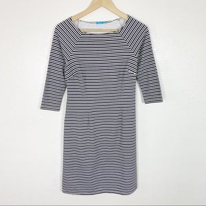 J. McLaughlin Striped Catalina Cloth Dress Sz XS
